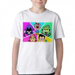 Camiseta Infantil  jovens titãs em ação