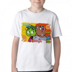 Camiseta Infantil Jovens Titãs waffles
