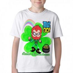 Camiseta Infantil Robin jovens titãs Leprechaun