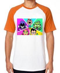 Camiseta  jovens titãs em ação