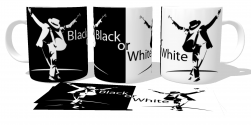 Caneca Porcelana  Michael Jackson black or white