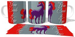 Caneca Porcelana  Cavalo de Fogo Eterno