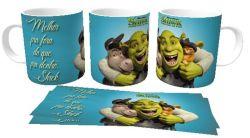Caneca Porcelana  Shrek melhor pra fora