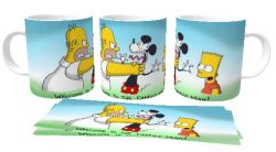 Caneca Porcelana  Simpson welcome family Mikey