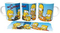Caneca Porcelana  Simpsons unidos família