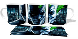 Caneca Porcelana  Batman VS Coringa