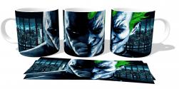 Caneca Porcelana  Batman VS Coringa