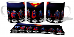 Caneca Porcelana  Superman evolution