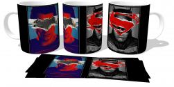 Caneca Porcelana Superman VS Batman