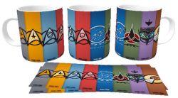 Caneca Porcelana  Star Trek agrupamentos