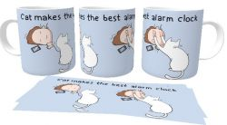 Caneca Porcelana Cats makes the best alarm clock