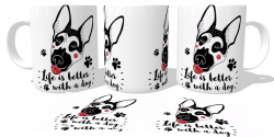 Caneca Porcelana Life is better with a dog