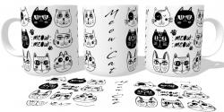 Caneca Porcelana Meow cat