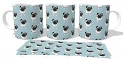 Caneca Porcelana Pugs wallpaper