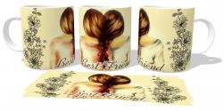 Caneca Porcelana Best friends meninas