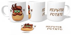 Caneca Porcelana Hipster Potato