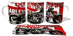 Caneca Porcelana Motor Harley Davidson