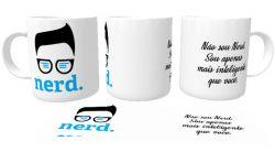Caneca Porcelana Nerd não sou nerd