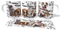 Caneca Porcelana Os animais alma veterinário