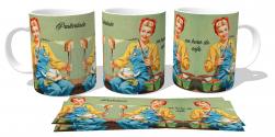 Caneca Porcelana Praticidade na hora do café
