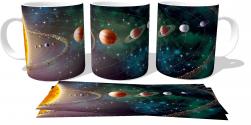 Caneca Porcelana Sistema Solar