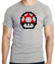 Camiseta Infantil Super Mario Mushroom