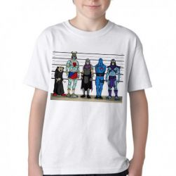 Camiseta Infantil Vilões antigos