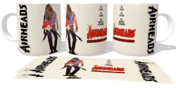 Caneca Porcelana Air Heads guitarra