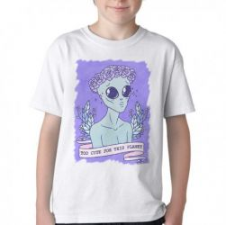 Camiseta Infantil Alien Cute