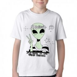Camiseta Infantil Alien say hello to the dumb humans