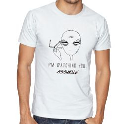 Camiseta  aliens watching you asshole