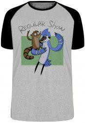 Camiseta Raglan Apenas um show Mordecai e Rigby