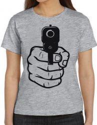 Blusa Feminina Arma em punho