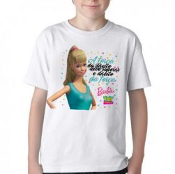 Camiseta Infantil Barbie o direito da força