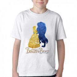 Camiseta Infantil Bela e a Fera