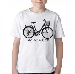Camiseta Infantil Bike Give me a Ride