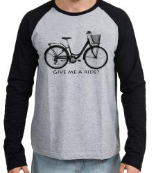 Camiseta Manga Longa Bike Give me a Ride