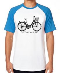 Camiseta Raglan Bike Give me a Ride