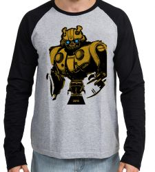 Camiseta Manga Longa Bumblebee Fusca