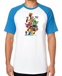 Camiseta Raglan Vingadores Buraco de Minhoca