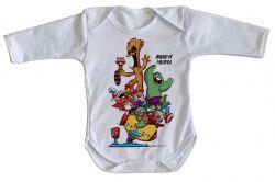 Roupa Bebê manga longa Vingadores Buraco de Minhoca