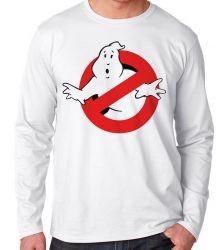 Camiseta Manga Longa Caça Fantasmas