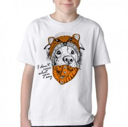 Camiseta Infantil Cachorro I dont care what you say