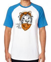 Camiseta Raglan Cachorro I dont care what you say