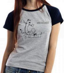 Blusa Feminina Calvin e Hobbes