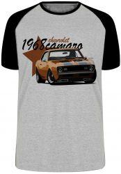 Camiseta Raglan Camaro Chevrolet 1968