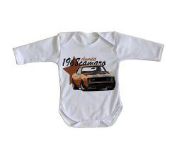 Roupa Bebê manga longa Camaro Chevrolet 1968