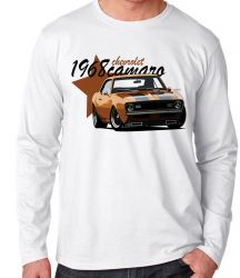 Camiseta Manga Longa Camaro Chevrolet 1968