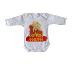 Roupa Bebê manga longa Capitã Marvel