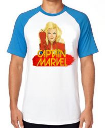 Camiseta Raglan Capitã Marvel